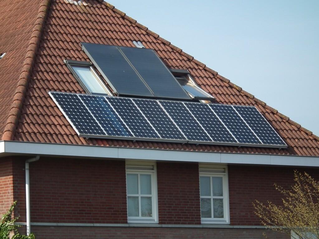 dak met zonne-energie