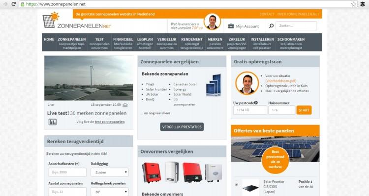 Zonnepanelen.net, houvast over zonne-energie
