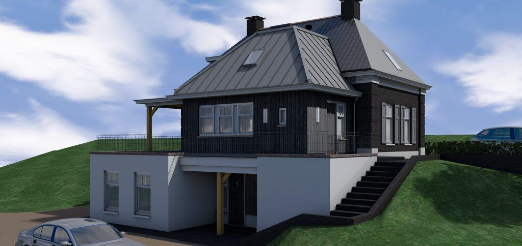 dijkwoning Herwijnen bijna energieneutraal gebouwd